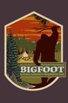 Home of Bigfoot - WPA Style - Contour - Lantern Press Artwork