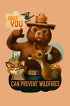 Smokey Bear - Only You - Oil Painting - Contour - Lantern Press Artwork
