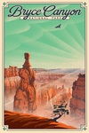 Bryce Canyon National Park, Utah - Bryce Point - Lithograph National Park Series - Lantern Press Artwork