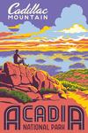 Acadia National Park, Maine - Explorer Series - Cadillac Mountain - Lantern Press Artwork