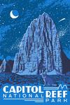 Capitol Reef National Park, Torrey, Utah - Explorer Series - Nighttime Scene - Lantern Press Artwork