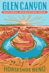 Glen Canyon National Recreation Area, Utah - Explorer Series - Horseshoe Bend - Lantern Press Artwork