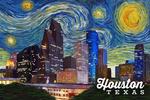 Houston, Texas - Starry Night Series - Lantern Press Artwork