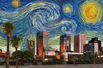 Phoenix, Arizona - Starry Night City Series - Lantern Press Artwork