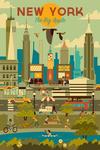 New York City - Geometric City Series - Lantern Press Artwork