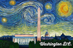 Washington DC - Starry Night Series - Lantern Press Artwork