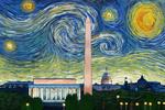 Washington DC - Starry Night City Series - Lantern Press Artwork