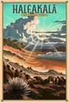 Haleakala National Park - Lithograph National Park Series - Lantern Press Artwork