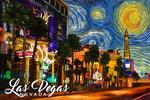 Las Vegas, Nevada - Starry Night Series - Lantern Press Artwork