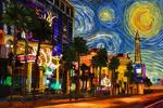 Las Vegas, Nevada - Starry Night City Series - Lantern Press Artwork
