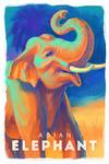 Elephant (Asian) - Vivid - Lantern Press Artwork