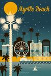 Myrtle Beach, South Carolina - Retro Skyline Classic Series - Lantern Press Artwork