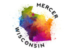 Mercer, Wisconsin - State Abstract Watercolor - Contour - Lantern Press Artwork