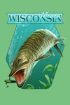 Mercer, Wisconsin - Muskie Scene - Contour - Lantern Press Artwork