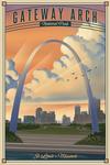 Gateway Arch National Park, Missouri - Lithograph National Park Series - Lantern Press Artwork