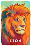 Lion - Vivid Series - Lantern Press Artwork