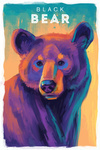 Black Bear - Vivid Series - Lantern Press Artwork