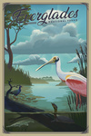 Everglades National Park, Florida - Lithograph National Park Series - Lantern Press Artwork