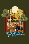 Flagstaff, Arizona - Woodland Animals - Geo - Contour - Lantern Press Artwork