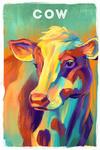 Cow - Vivid Series - Lantern Press Artwork