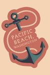 Pacific Beach, Washington - Anchor - Contour - Lantern Press Artwork