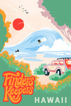 Hawaii - Secret Surf Spot Collection - Surf Scene At The Beach - Finders Keepers - Lantern Press Artwork