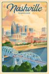 Nashville, Tennessee - Lithograph City Series - Lantern Press Artwork