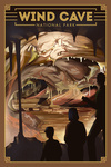 Wind Cave National Park, South Dakota - Lithograph National Park Series - Lantern Press Artwork