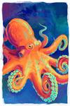 Octopus - Vivid - Lantern Press Artwork