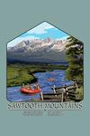 Stanley, Idaho - Sawtooth Mountains - Rafting - Contour - Lantern Press Artwork