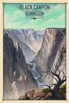 Black Canyon of the Gunnison National Park, Colorado - Lithograph National Park Series - Lantern Press Artwork
