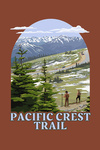 Pacific Crest Trail & Hikers - Contour - Lantern Press Artwork