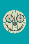 Ride Happy - Biking - Contour - Lantern Press Artwork