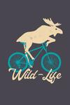 Wild Life - Biking - Contour - Lantern Press Artwork
