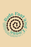 Ride Fast and Loose - Biking - Contour - Lantern Press Artwork