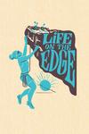 Life on the Edge - Climbing Woman - Contour - Lantern Press Artwork