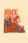 Race You to the Bottom - Mountain Bikers - Biking - Contour - Lantern Press Artwork