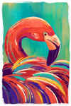 Flamingo - Vivid - Lantern Press Artwork