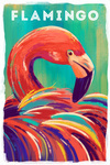Flamingo - Vivid Series - Lantern Press Artwork