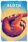 Sloth - Vivid Series - Lantern Press Artwork
