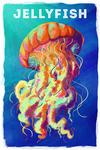Jellyfish - Vivid Series - Lantern Press Artwork