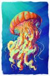 Jellyfish - Vivid - Lantern Press Artwork