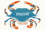 Yorktown, Virginia - Blue Crab - Watercolor - Lantern Press Artwork