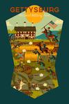 Gettysburg, Pennsylvania - National Military Park - Civil War - Geometric - Contour - Lantern Press Artwork