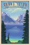 Grand Teton National Park, Wyoming - Lithograph National Park Series - Lantern Press Artwork