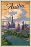 Austin, Texas - Lithograph - City Series - Lantern Press Artwork