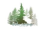 Northern Lake George, New York  - Moose & Mountains - Green Tones - Lantern Press Artwork