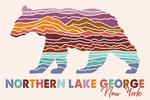 Northern Lake George, New York - Bear - Wander More Collection - Lantern Press Artwork