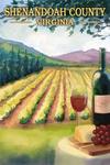 Shenandoah County, Virginia - Vineyard Scene - Lantern Press Poster