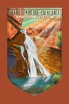 Grand Staircase-Escalante National Monument, Utah - Lithograph - Contour - Lantern Press Artwork